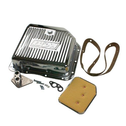 - B&M 30289 Chrome Deep Transmission Pan For TH 350 Transmission Automatic Transmission Oil Pan