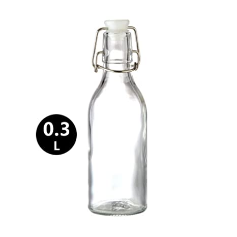 Creativa transparente agua chill gran capacidad claro plomo-botella de vidrio libre con columpio tapa