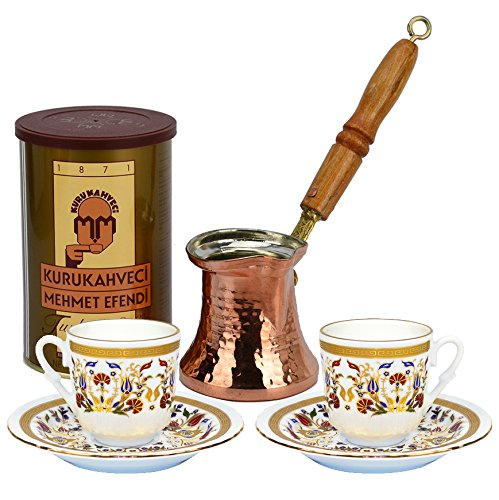 Turkish Coffee Excellent Turkish Coffee Set for Two with Premium coffee (8.8 oz) - Carnation
