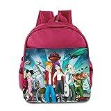 Kids Futurama School Backpack Fashion Baby Children School Bag Pink