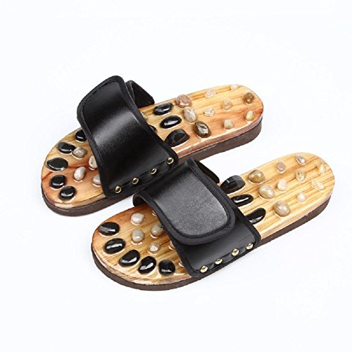 HHORD Home Antideslizante Masaje Zapatillas Salud Piedras Masaje de pies Calzado Zapatillas, 44
