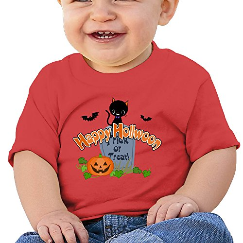 Halloween Cool Graphic Baby O-neck Short Sleeve Cotton Red Size 18 Months]()