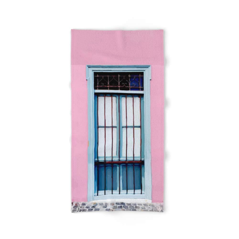 Society6 Bath Towel, 64'' x 32'', Window by andreeea