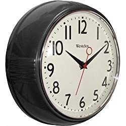 Westclox 32042bk 9.5 Black Deep Wall Clock