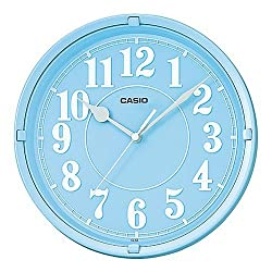 Casio Iq-62-2 Wall Clock with 10 Inches Thinline Quartz Light Blue Dial Battery Included