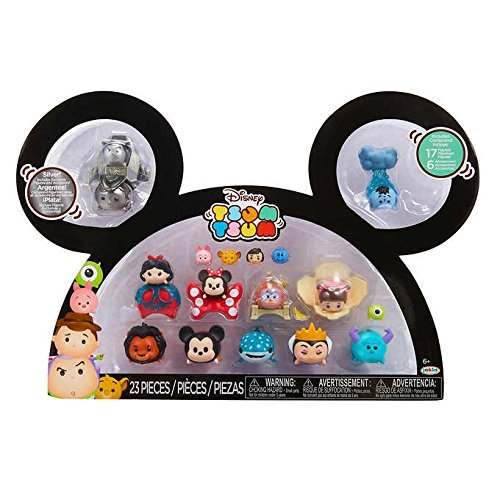 (Disney Tsum Tsum Buzz, Woody, Snow White, Minnie, King Louie, Boo, Scar, Mickey, Destiny, Maleficent, Sully & Eeyore 1-Inch Minifigure)