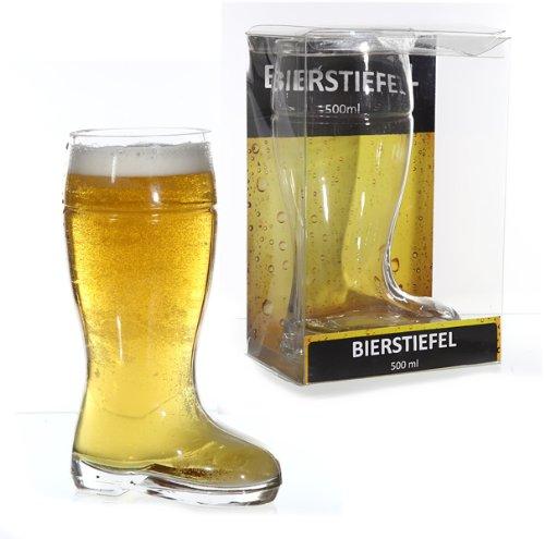 Bierstiefel Bierglas Stiefel Glasstiefel 500ml in Geschenkverpackung