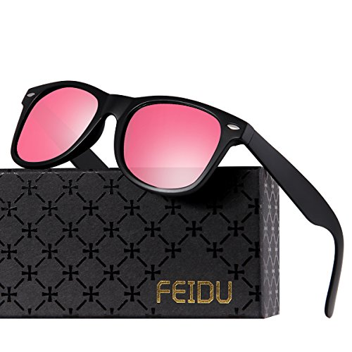 FEIDU Cocoons Fitovers Polarized Sunglasses Aviator (XL) Pink