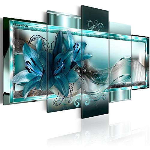 Canvas_Art_Design_2015 Home Decor Abstract Flower Wall Art Canvas Print Pictures for Living Room (A1, 30x45cmx2,30x60cmx2,30x75cmx1)