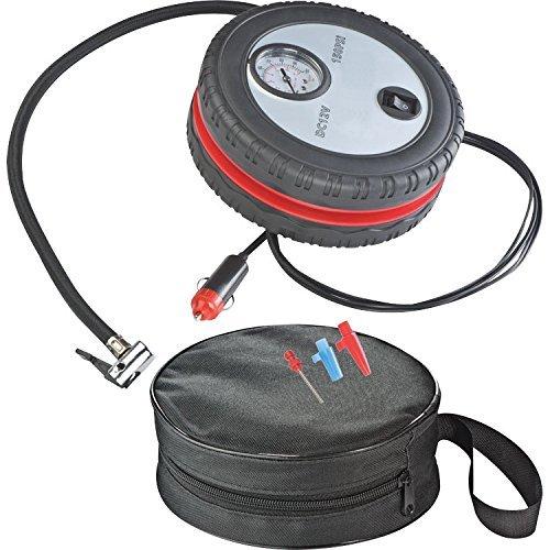 Compresor D Aire Forma de Neumático para Coche Motocicleta Bicicleta y Balones de Playa