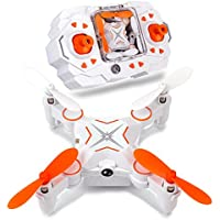 Dwi Dowellin Mini Foldable RC Drone FPV VR Wifi RC Quadcopter Remote Control Drone with HD 480P Camera RC Helicopter 901S Orange