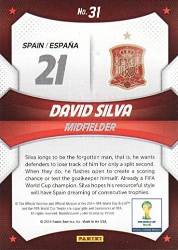 Panini Prizm Copa del Mundo 2014 estrellas de la Copa del Mundo #31 David Silva