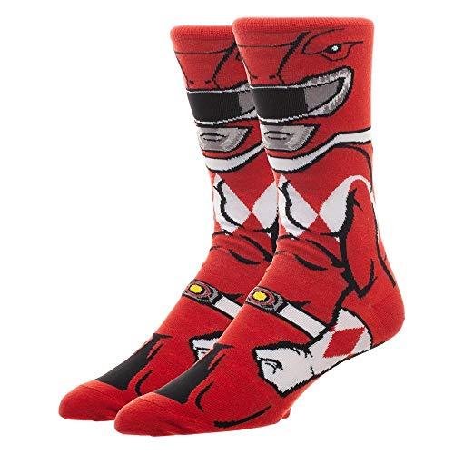 (Power Rangers Red Ranger 360 Character Crew Sock)