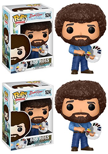 Funko Television  Pop Bob Ross 2 Pack Collectible Set