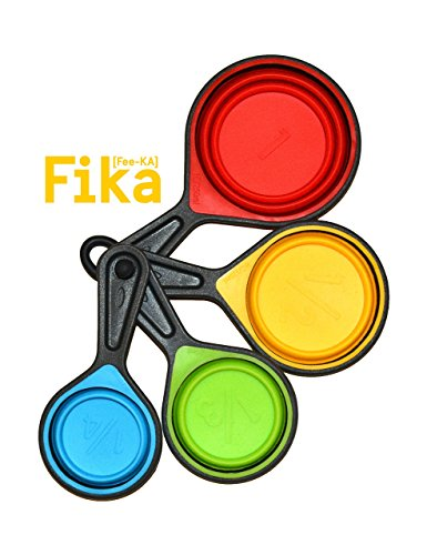 Fika Collapsible Silicone Measuring Cups 4 Piece Set
