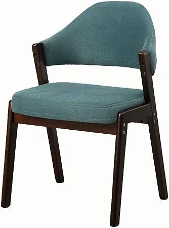 Chaises Chaise de salle à manger en bois moderne avec barre