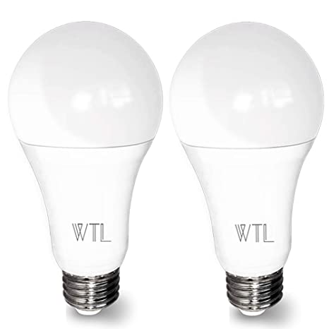3 Way Led Light Bulb 50 100 150w 500 1600 2100lm High Lumens And 4000k Natural White A21 E26 Medium Base Bulb For Table Lamp 2 Packs By Wtl