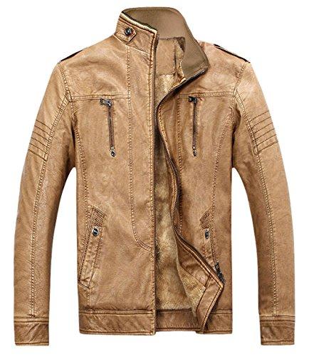 Tan Leather Jacket Mens - 3
