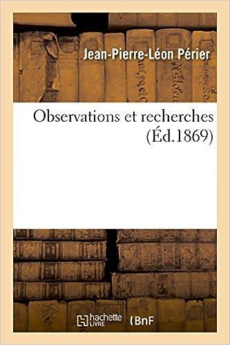 Lire Observations et recherches pdf, epub
