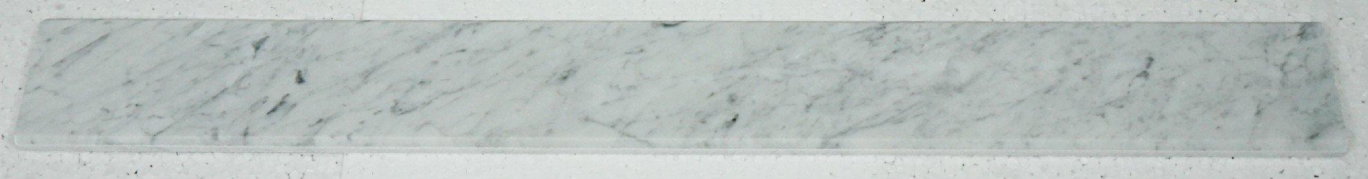 Italian Bianco Carrara Polished Marble Saddles by MarbleTileDirect (Image #3)