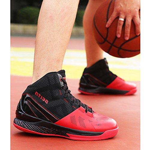 Rouge Ball Sport de Running Trial Waterproof Chaussure de Homme Combat Course Confortable Sneakers athlétique Noir Chaussure Basket qUa5g