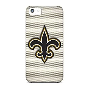 Iphone 5c Cases Covers - Slim Fit Tpu Protector Shock Absorbent Cases (new Orleans Saints)