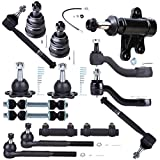 SCITOO 15pcs Suspension Kit 2 Upper 2 Lower Ball Join 2 Inner 2 Outer Tie Rod 2 Adjusting Sleeve 2 Front Sway Bar Link 1 Idler 1 Pitman Arm 1 Idler Arm Bracket fit 1993-2000 GMC C2500 K6447