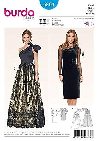 Burda Damen Schnittmuster 6868 – Elegant Kleider in 2 Styles: Amazon ...