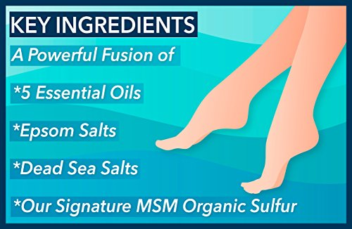 Premium Tea Tree Oil + Cooling Camphor Foot Soak by No Boundaries Health and Wellness – Peppermint, Rosemary, Cajeput Essential Oils, Epsom & Dead Sea Salts, MSM Organic Sulfur – Soothe Feet by No Boundaries Health and Wellness MSM Organic Sulfur (Image #3)