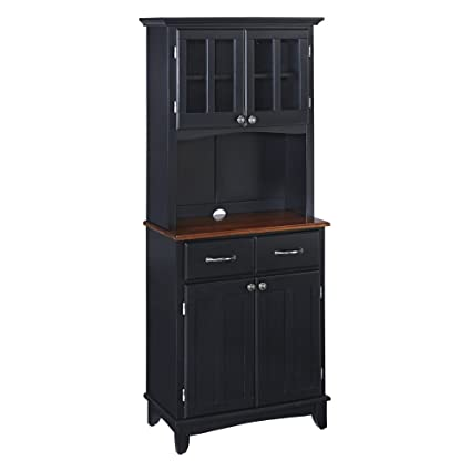 Amazon Home Styles Small Wood Bakers Rack With Two Door Hutch