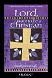 Lord, I Want to Be a Christian Leader, Kimbrough, 0687332648