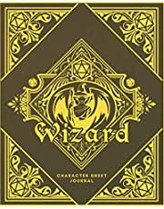 Wizard Character Sheet Journal: DnD Notebook With 50 Character Pages and 100 Mixed Pages (Lined, Graph, Hex & Blank) For Role Playing Fantasy Games I Campaign Adventure Planner Gifts For RPG Players To Create Characters, Maps, Track Gameplay & Much More
