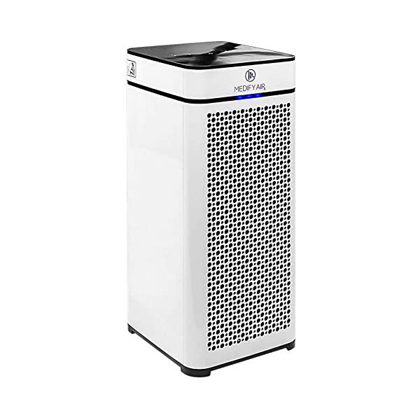 Medify MA-40 Home Medical Grade H13 True HEPA for 800 Sq. Ft. Air Purifier, 99.97% removal with Particle Sensor and Modern Design – White