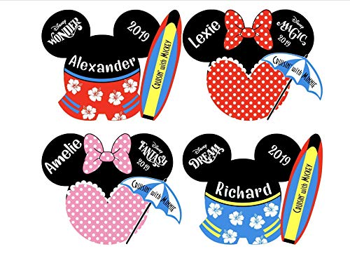 Personalized Disney Cruise Mickey Magnets || Mickey Mouse Beach Magnet || Swimsuit Mickey Magnet for Disney Cruise Door || Surfer Mickey Magnet -