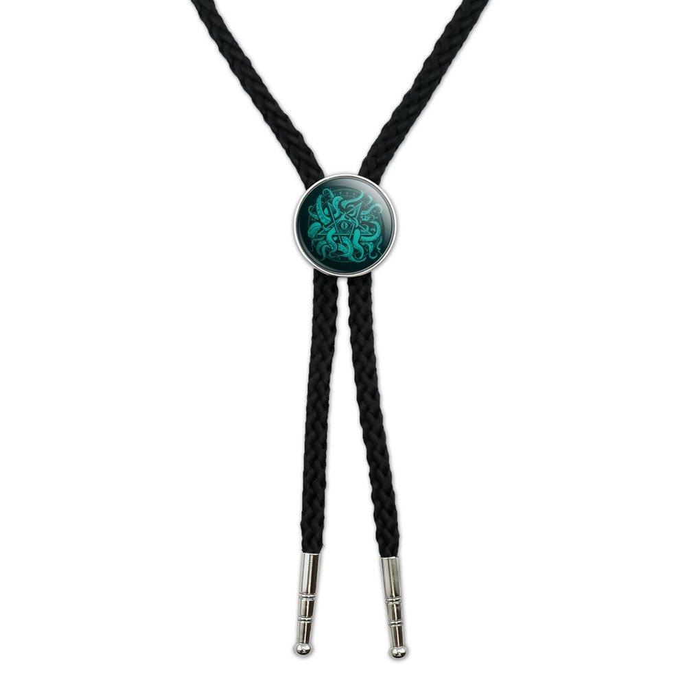 Cthulhu Elder Sign Pentagram Western Southwest Cowboy Necktie Bow Bolo Tie GRAPHICS & MORE