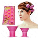 20 Pieces Ultra-Soft Silicone DIY PECO Hair Style Roller Curler, NO CLIP Hair Curler Rollers.