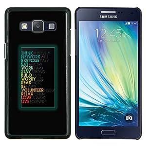 TECHCASE---Cubierta de la caja de protección para la piel dura ** Samsung Galaxy A5 ( A5000 ) 2014 Version ** --Mensaje motivación divertido