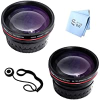 72mm Vivitar Series 1 Professional .43x Wideangle with Macro & 2.5x Telephoto Lens Bundle (Also fits 62mm, 67mm, 77mm)