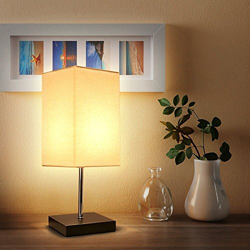 Tomshine Bedside Table Lamp Small Nightstand Lamps for ...