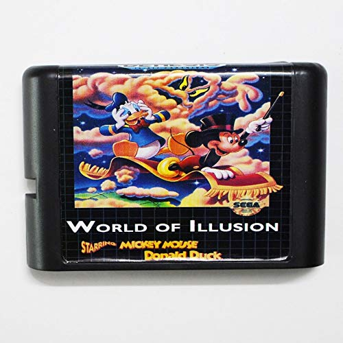 - The Crowd Tradensen World of Illusion Starring Mickey Mouse & Donlad Duck 16 Bit Md Game Card for Sega Mega Drive for Genesis