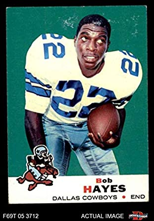official photos 1640b a7368 Amazon.com: 1969 Topps # 6 Bob Hayes Dallas Cowboys ...