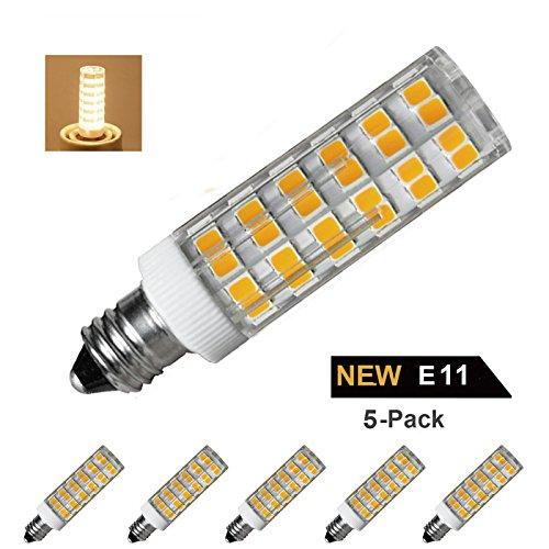 [Pack of 5] E11 LED Bulb Dimmable,Mini Candelabra Base bulb,6W Equivalent to 60W-75W Incandescent lamp or Halogen bulb,3000K Warm White,AC110V/120V/130V - 75w Halogen Light Bar