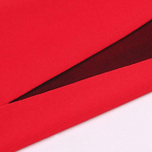 Todaies Women Patchwork Leggings Stitching Sports Pants Yoga Fitness Leggings Running Stretch Red Trousers