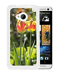 Unique DIY Designed Cover Case For HTC ONE M7 With Tulips Flower Mobile Wallpaper 1 (2) Phone Case