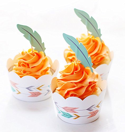 Price comparison product image Woodland Cupcake Decorating Kit Complete With Standard Size Baking Liners,  Cupcake Toppers,  and Wrappers. Greaseproof & Fadeproof! Pinterest Worthy Cupcakes In No Time By Royal Icing Baking Supply