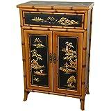 "Oriental Furniture 36"" Ching Shoe Cabinet"