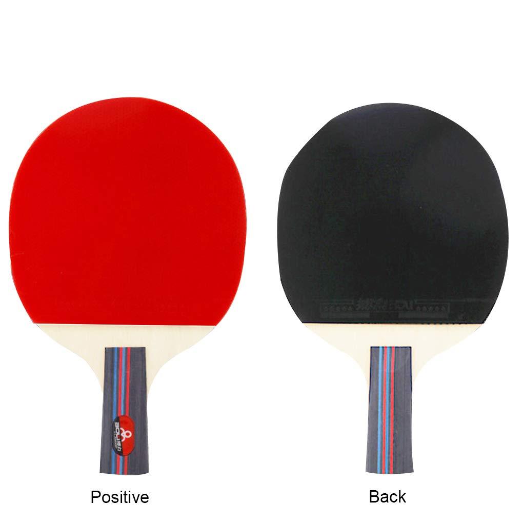 Demino Tennis de Table 2 RG.LECTU Deux balles Racket Sports Deux Deux balles Racket /école Accueil Sports Club Double Face en Caoutchouc D/ébutant Ping Pong Paddle 1