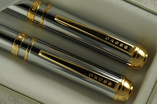 Cross Executive Companion Elegant Kinsgton Medalist with 23KT Gold Appointment and Extremely Polished Chrome Pen and 0.7mm Pencil Set