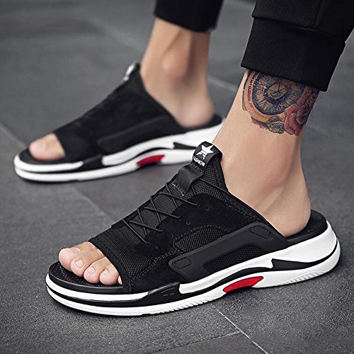 Sunny Men's Shoes Sandals Summer Dual Use Thick Bottom Open Toe Breathable Sandals Outdoor Beach Shoes Casual Shoes Beach Sandals Black cNK3Hd