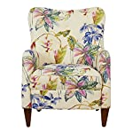 Jennifer Taylor Home Paradise Collection Modern Floral Print Cotton Blend Upholstered Accent Arm Chair With Wooden Legs, Multicolored/Floral Print